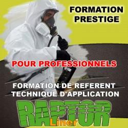 """Formation """"PRESTIGE PRO"""" de référent technique d'application """"RAPTOR LINER"""" réservé aux Professionnels."""