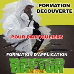 """Formation """"DECOUVERTE"""" d'application """"RAPTOR LINER"""" réservé aux particuliers."""