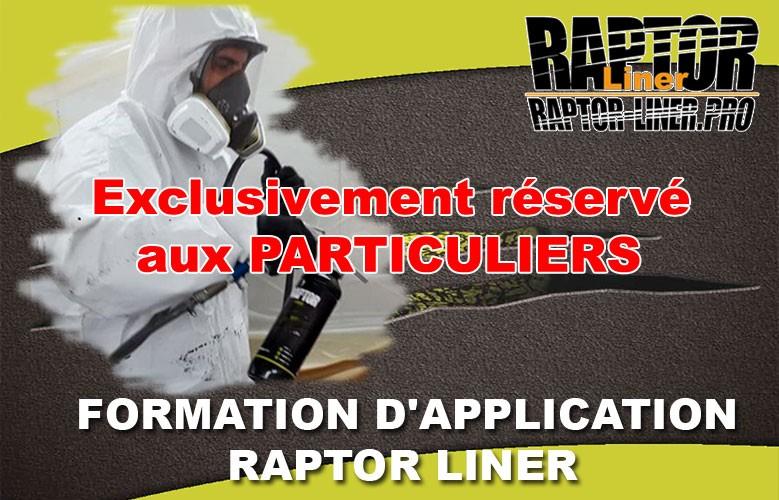 Formation d'application Raptor Liner pour particuliers