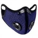Masque bleu avec valve respiratoire