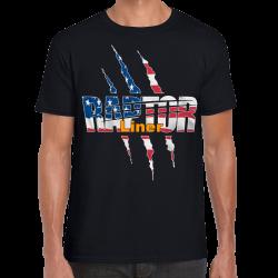 Tee Shirt USA FLAG RAPTOR LINER