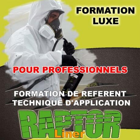 """Formation """"LUXE PRO"""" de référent technique d'application """"RAPTOR LINER"""" réservé aux Professionnels."""