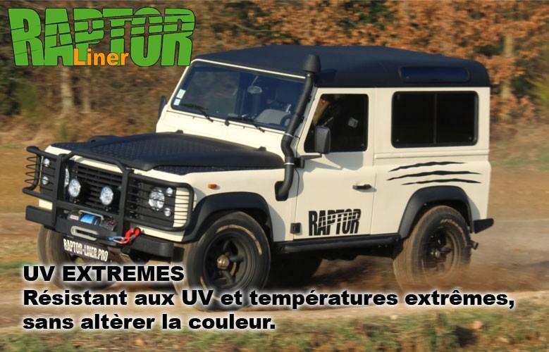 Clqiuez ici pour découvrir le kit Raptor Liner Noir ou Teintable