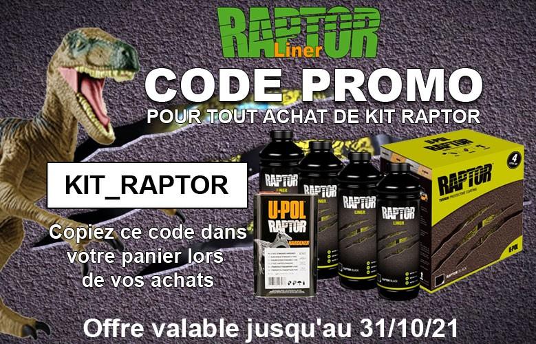 Réduction sur les kits Raptor Liner