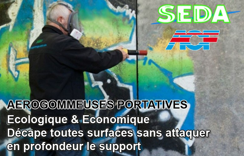 Cliquez ici pour découvrir les Gammes d'Aérogommeuses SEDA & ACF
